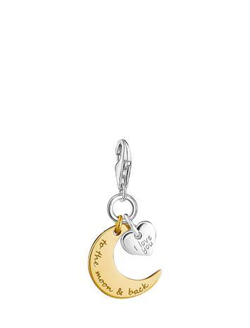 Thomas Sabo Charm Pendant Moon & Heart I Love You To The Moon & Back GOLD