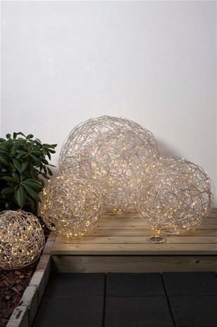 Star Trassel LED -pallo, 50 cm