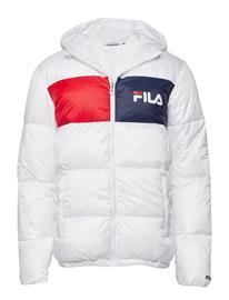 FILA Men Floyd Puff Hood Jacket BRIGHT WHITE