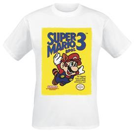 Super Mario Super Mario Bros. 3 T-paita valkoinen