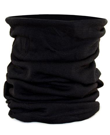 MILRAB Neck Warmer Merino Wool - Huivit - Musta