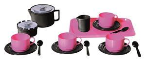 Plasto Kahviastiat neljälle, 18 osaa, pinkki