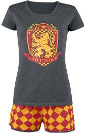 Harry Potter Gryffindor Quidditch Pyjama harmaa-punainen-keltainen