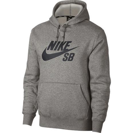 Nike Sb M NK SB ICON HOODIE PO ESSNL DK GREY HEATHER/BL