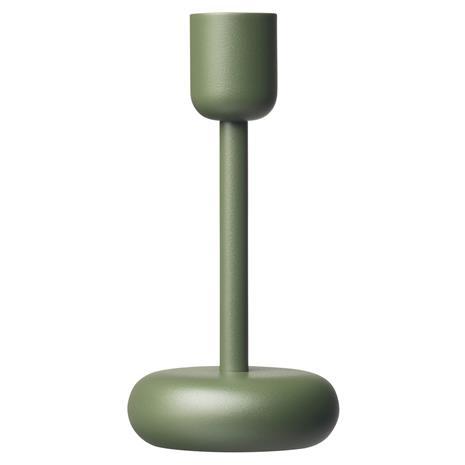 Iittala Nappula kynttilänjalka 183 mm, sammaleenvihreä