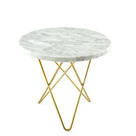 OX Denmarq Mini O pöytä, messinki - valkoinen marmori