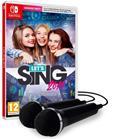 Let's Sing 2019 + kaksi mikrofonia, Nintendo Switch -peli