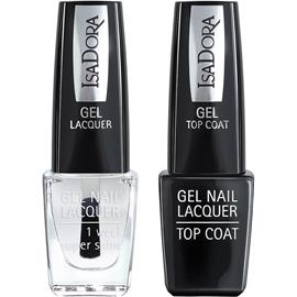 IsaDora Gel Nail Lacquer + Top Coat - Clear