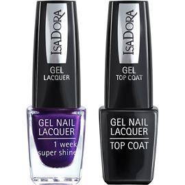 IsaDora Gel Nail Lacquer + Top Coat - Liberty