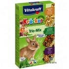 Vitakraft Kräcker Trio Mix -kääpiökaninkeksit - 1 x 3 kpl (popcorn, vihannekset, viinirypäle)