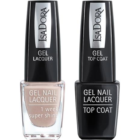IsaDora Gel Nail Lacquer + Top Coat - Classy Nude