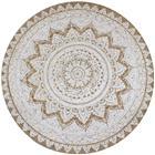 vidaXL Pyöreä matto kuvioitu punottu juutti 150 cm