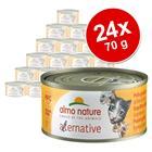 Almo Nature HFC Alternative Cat 24 x 70 g - kinkku & kalkkuna