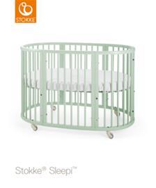 Stokke Sleepi pinnasänky 120 cm patjalla Sleepi Bed, Mint Green
