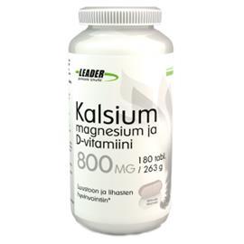 Leader Kalsium + Mg + D-vitamiini 180 kpl