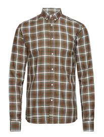 Les Deux Boswell Shirt DARK GREEN CHECK 6580f6451547c