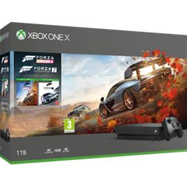 Xbox One X, pelikonsoli + 2 peliä