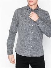Only & Sons onsONKAL Ls Printed Chambray Shirt Kauluspaidat Tummanharmaa