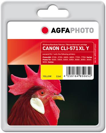 Canon APCCLI571XLY, mustekasetti