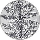Vallila Matto pyöreä 100 cm lumi harmaa