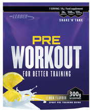 Leader Pre Workout Lemon 300 g latausjuoma