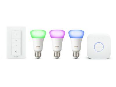 Philips Hue White & Color Ambiance E27, älyvalaistuksen aloituspakkaus