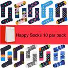 HAPPY SOCKS- 10 PAIR GIFT BAG
