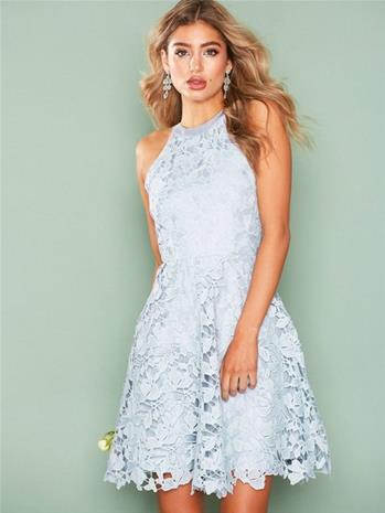 NLY Eve Scallop Lace Dress Vaaleansininen