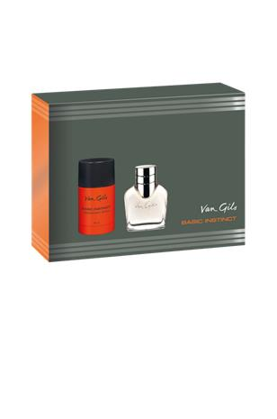 Van Gils Basic Instinct Men Lahjapakkaus, EdT 40 ml + Deostick 75 ml