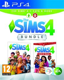 The Sims 4 + Cats and Dogs Bundle, PS4 -peli
