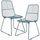 "[en.casa]® ""Sofia"" design metalli tuoli 2 kpl / setti - 92 x 47.5 cm - turkoosi"
