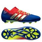 adidas Nemeziz Messi 18.1 FG/AG Initiator - Punainen/Hopea/Sininen Lapset