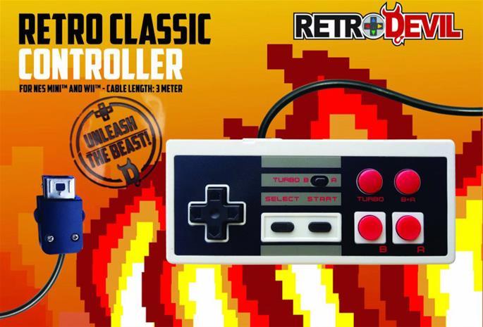 Retro Devil Retro Classic Controller, Wii/NES -ohjain