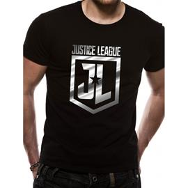 Justice League MOVIE - FOIL LOGO (UNISEX) T-Paita