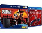 PlayStation 4 Pro (PS4, 1 TB), pelikonsoli + 2 peliä