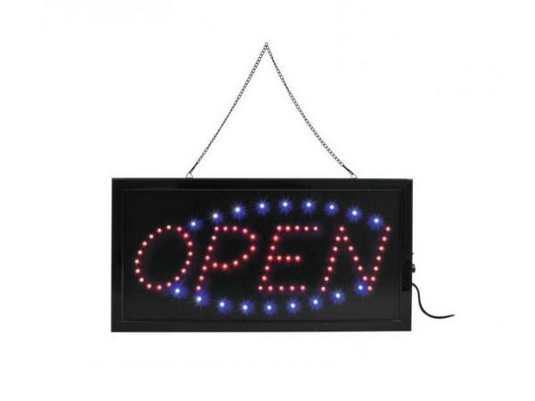 OPEN LED-kyltti