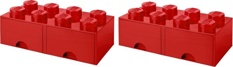 LEGO Säilytyslaatikot, Punainen