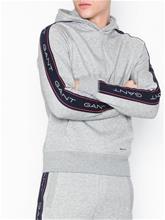 Gant O1.Gant Archive Stripe Sweat Hoodie Puserot Light Grey Melange