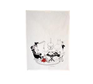 Opto Design Muumipappa Reading Keittiöpyyhe 50 x 70 cm Valkoinen