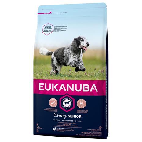 Eukanuba Caring Senior Medium Breed Chicken - 15 kg