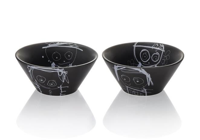 Poul Pava great guys kulho musta 14 x 6 cm 2-pack, Bowls