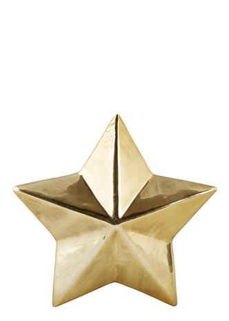 Koriste-esine Tähti Kulta 12x12 cm, Kalusteet ja sisustus