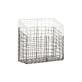Postin säilytyskori Metalli/Valkoinen 25x12 cm, Baskets