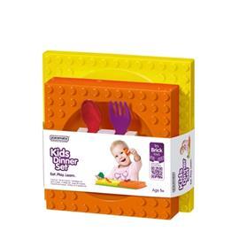 Ruokailusetti lapsille, Keltainen, BabyPlates