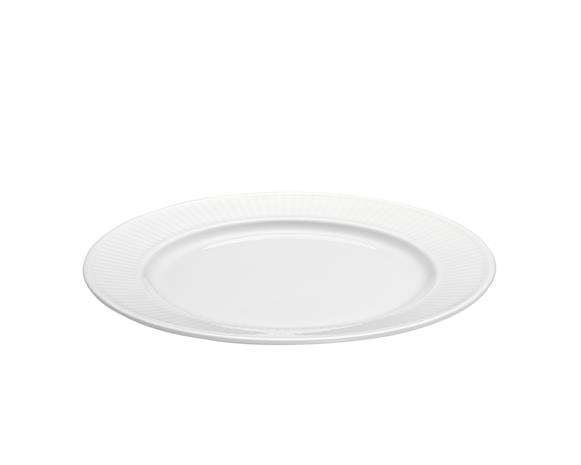 Plissé Lautanen valkoinen Ø 17 cm, SmallSidePlate