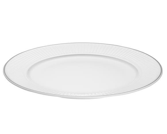 Vienne Plissé Lautanen, Valkoinen 28 cm, Plates