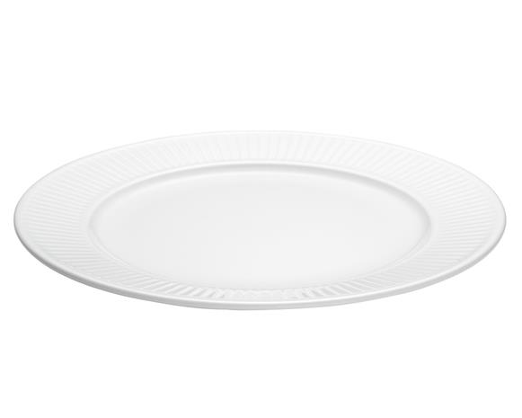 Plissé Lautanen Valkoinen, Ø 28 cm, Plates