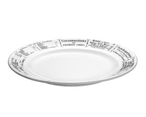 Brasserie Lautanen valkomusta Ø 24 cm, Plates