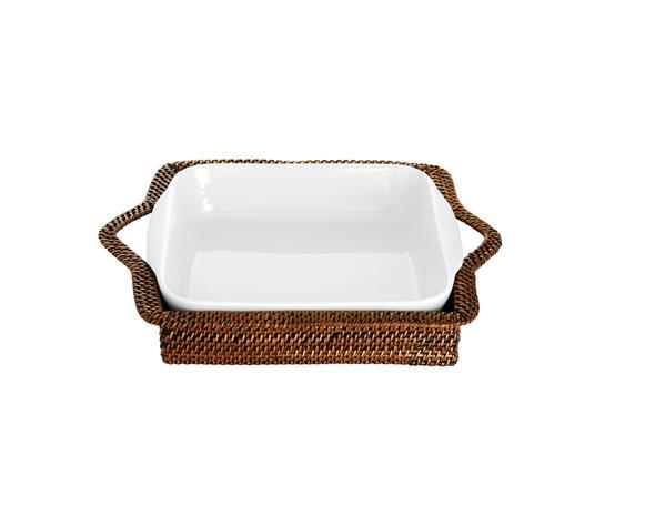 Kori kuutio vaalea/tummanruskea 20x20 cm, Baskets