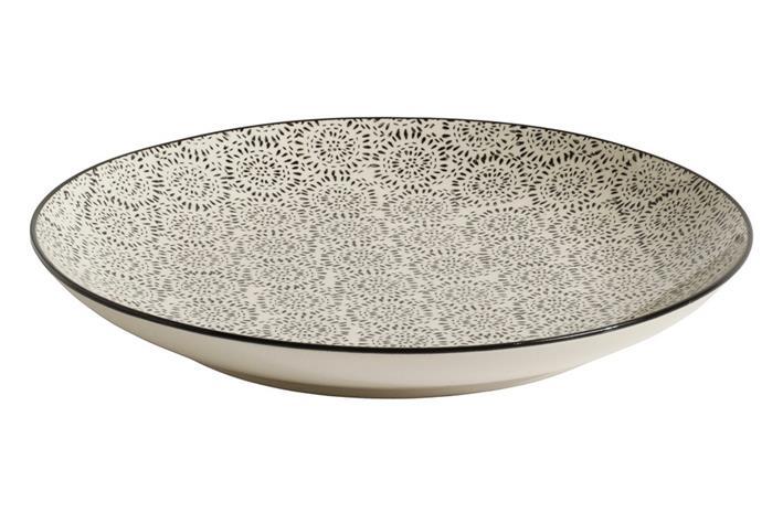 Blossom lautanen musta 20 cm, Plates